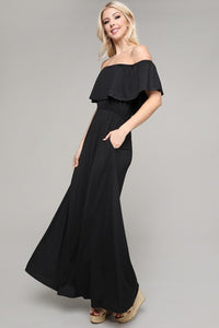 Summer Romance Off the Shoulder Maxi