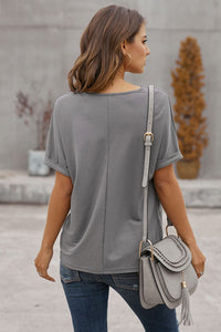 Skipping Stones Top in River Rock Grey