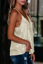 Load image into Gallery viewer, City Lights Racerback Sequin Tee in Apricot