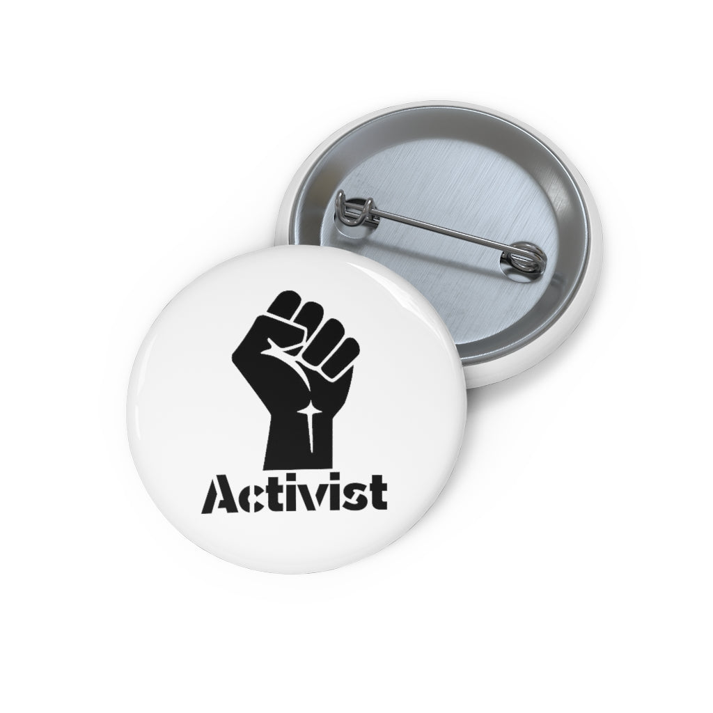 "OUTSPOKEN-DESIGNS ""Activist"" Custom Pin Buttons"