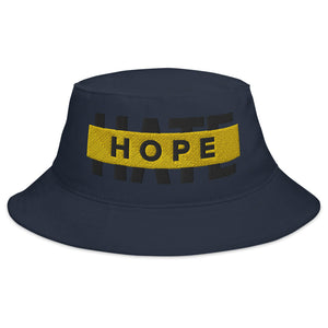 "Outspoken-designs ""Hope over Hate"" embroidered Bucket Hat"