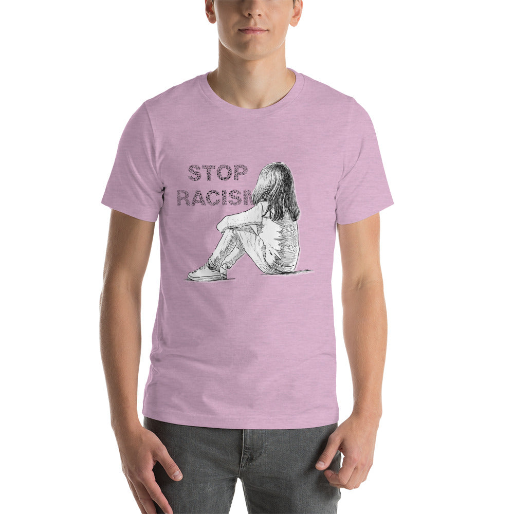 "Outspoken-Designs ""Stop Racism Sketch"" Short-Sleeve Unisex T-Shirt"