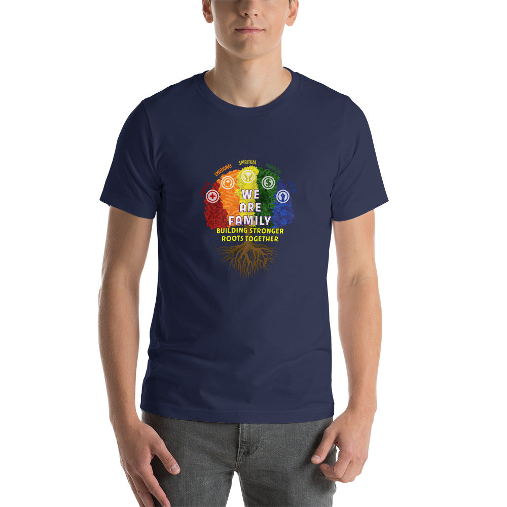 "Outspoken-Designs ""We Are Family"" Short-Sleeve Unisex T-Shirt"