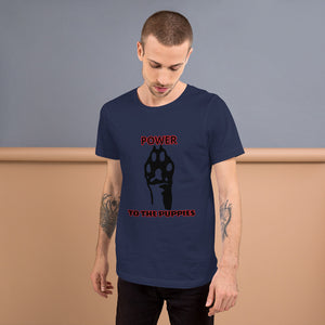 "Outspoken-Designs ""Power to the Puppies"" Short-Sleeve Unisex T-Shirt"