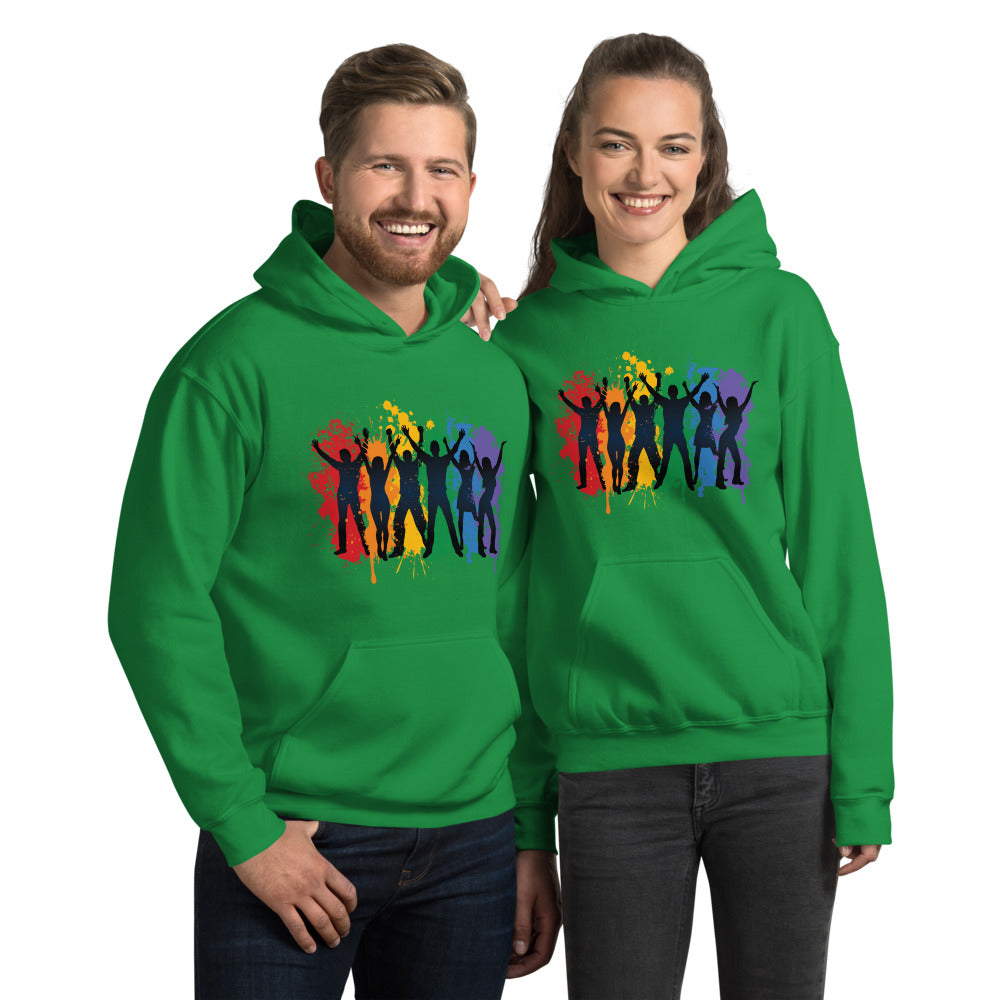 "Outspoken-Designs ""Love and Happiness"" Pride Unisex Hoodie"