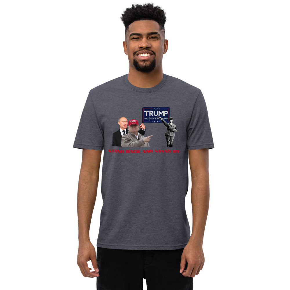 "Outspoken-Designs ""Standing By Mr. President"" ' Unisex recycled t-shirt"