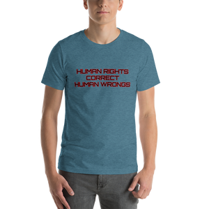 HAMN RIGHTS CORRECT HUMAN WRONGS T-SHIRT