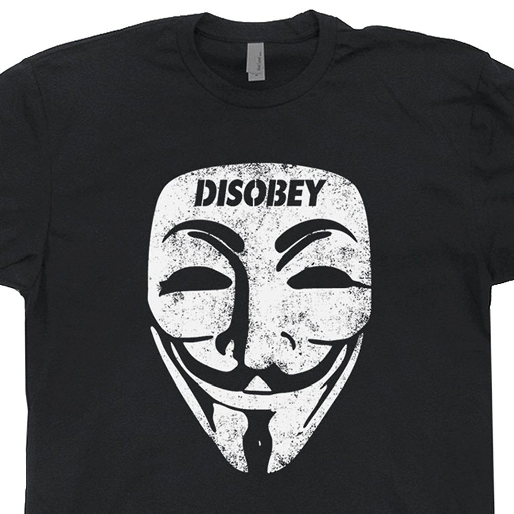 Anonymous Disobey Troll Political Anarchy Hacker Tee