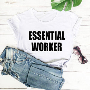 Quarantine Shirt Essential Worker Shirts stay Home Shirt new arrival 2020 100%cotton funny t shirt Social Distancing shirts