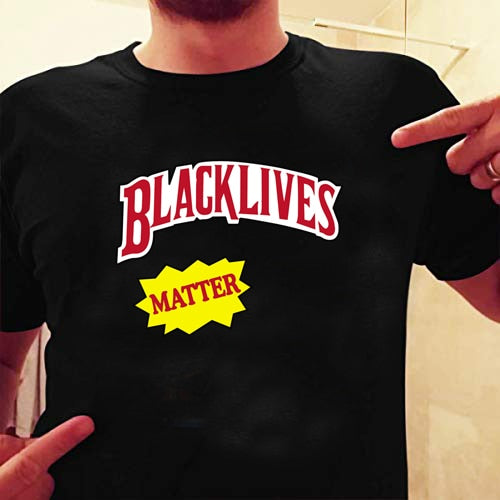 OUTSPOKEN DESIGNS Black Lives Matter Slogan T-Shirt Unisex Men Women Aesthetic Tee Human Rights Equality Shirt