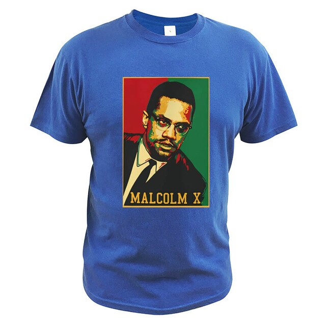 Malcolm X T-Shirt Black History Month Activist African Civil Rights EU Size Casual Novelty High Quality T Shirt