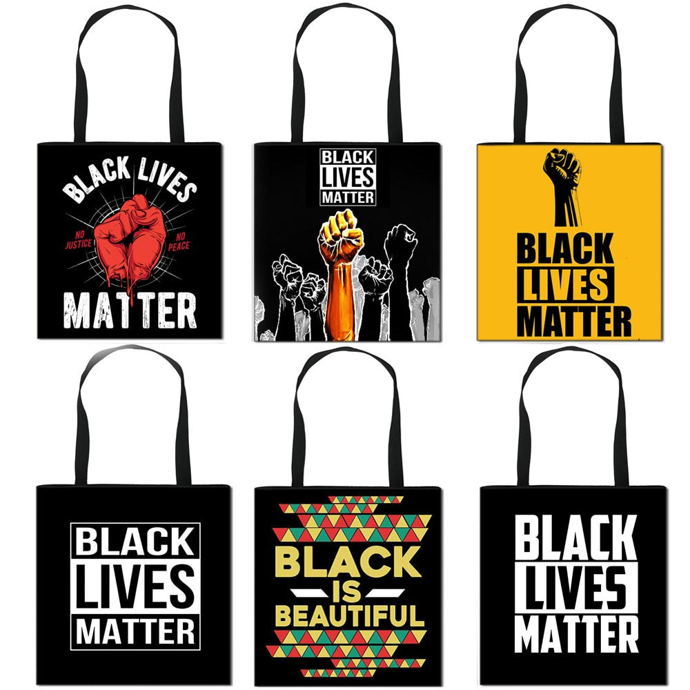 Outspoken-Designs Black Lives Matter Shoulder Totes