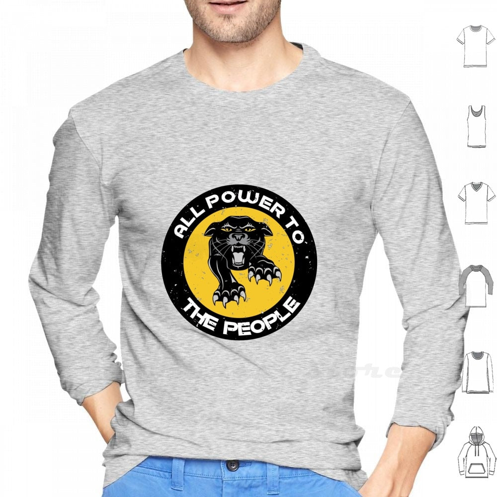 Outspoken-Designs All Power To The People Panthers Party Civil Rights Long Sleeve Men Women Teenage Panthers Party Panthers Party Civil Rights