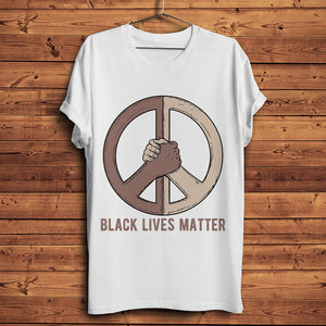 Outspoken-Designs Black Lives Matters  Black White Unity peace
