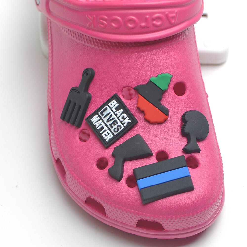 NEW Outspoken-Designs Black Lives Matter Charms  For Crocks Clog Shoes
