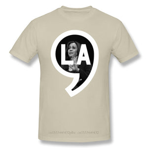 Comma La Print Cotton Funny T Shirts Joe Biden Declared Kamala Harris As Vice President Men Fashion Streetwear