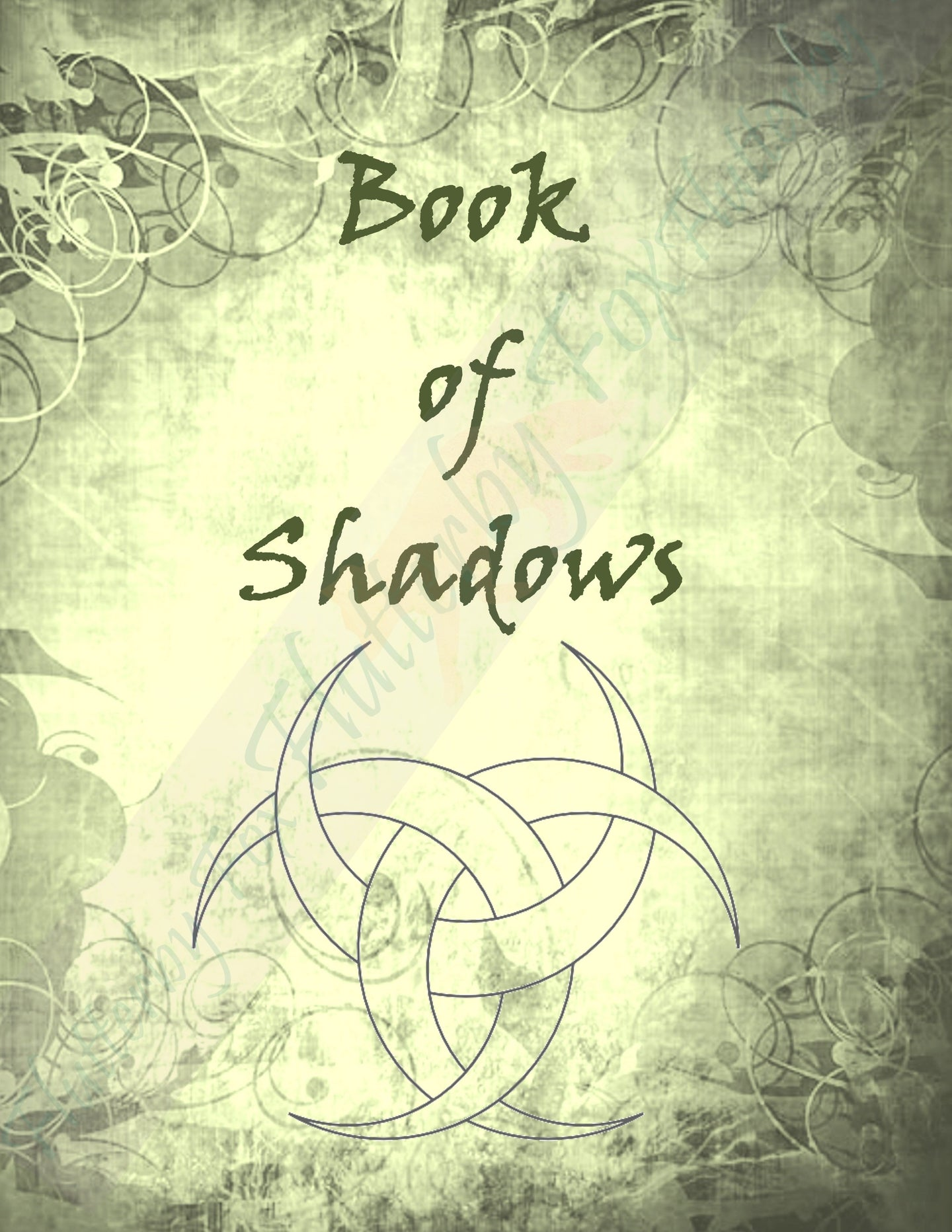 Green Book of Shadows Set (Four Pages)