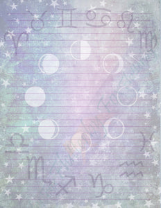 Astrology Set (Five Pages)