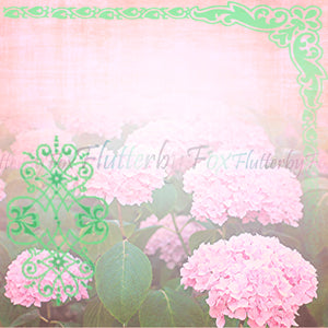 Green Floral Scrapbook Set