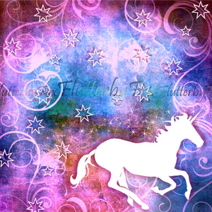 Unicorn Scrapbook Paper Set