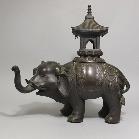 k0251.銅製象形香炉【 BRONZE INCENSE BURNER 】