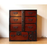 j0678.庄内棒付衣裳箪笥【 SHONAI TANSU CLOTHING CHEST WITH A LOCK BAR 】