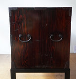 j0901 庄内衣裳箪笥 スタンド付き【 Shonai clothing chest with metal stand 】