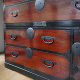 ◆SOLD 御売約済◆ j0918 三つ柏紋金具衣裳箪笥【  Clothing  chest with Three Kashiwa leaves crest 】