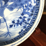 p0295  古伊万里染付大皿(孔雀) 【Old Imari blue and white big plate, peacock】