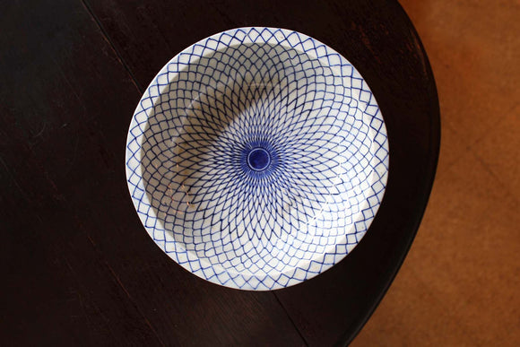 p0279.網手紋中鉢【Bowl with net design】