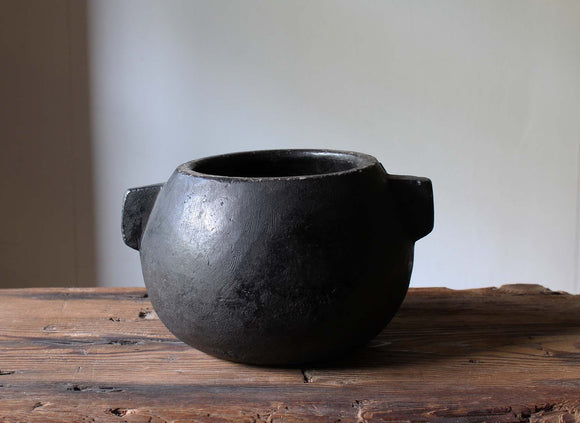 s1386 李朝 石鍋 【Korean stone pot】