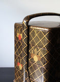 k0410  金蒔絵手付重(桐) 【Gold lacquer bento box set with paulownia leaves design】