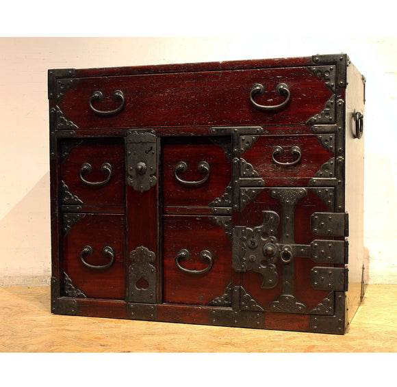 j0759.総桐閂錠付小箪笥【 KIRI SMALL CHEST OF DRAWERS WITH A BAR LOCK 】