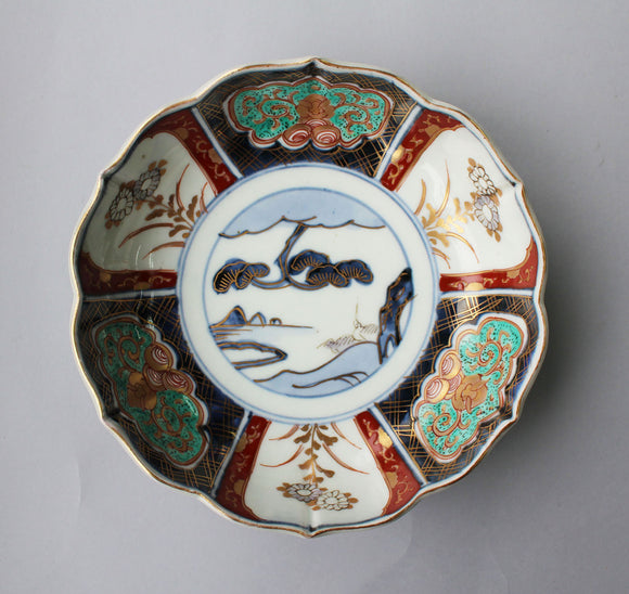 p0238.伊万里赤絵膾皿5客揃い【Old Imari bowl with red painting 5pcs.】