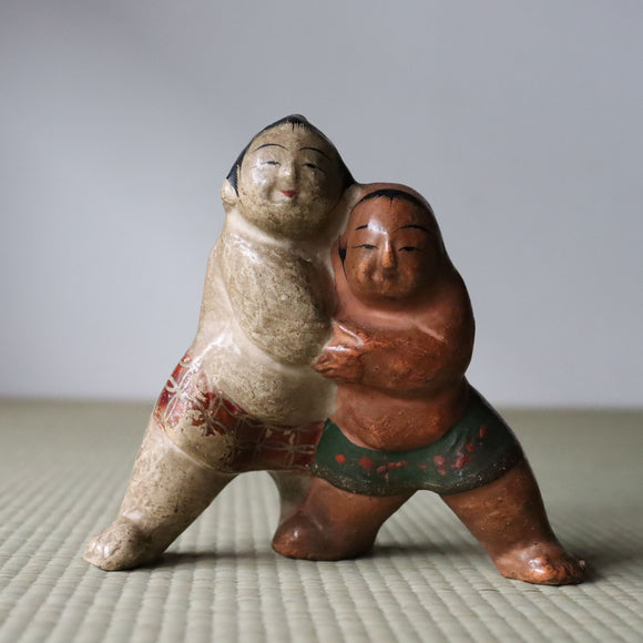 s1418 土人形(相撲)【 Cray doll of SUMO 】