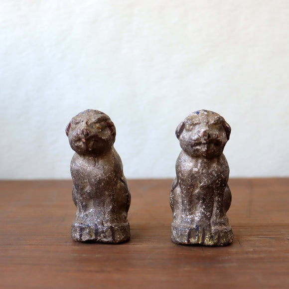 s1426 土人形(狛犬一対)【Cray doll of a pair of KOMAINU】