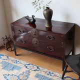 j0929 米沢衣裳箪笥(下段部分 スタンド付き)【 Yonezawa clothing chest with metal stand 】