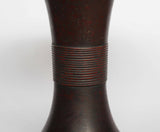 s1372.銅花瓶 銘:正則【 Bronze vase by Masanori 】