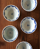 p0289  伊万里染付湯呑五客【 Imari blue and white cups, 5 pieces set】