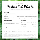 custom oil blend topical massage oil service flying with air
