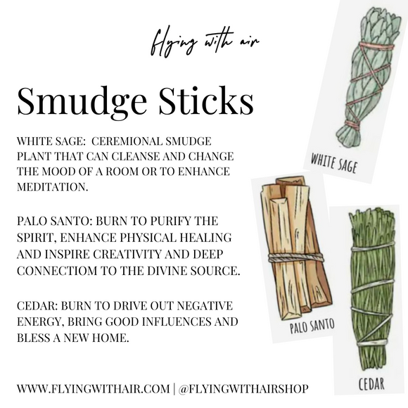 Smudge Stick Set | White Sage, Palo Santo, Cedar Sticks