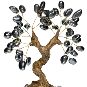 hematite ring crystal tree crystal base