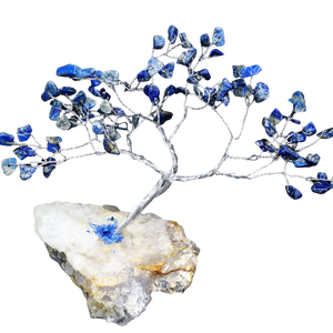 blue lapis crystal tree gemstone home decor