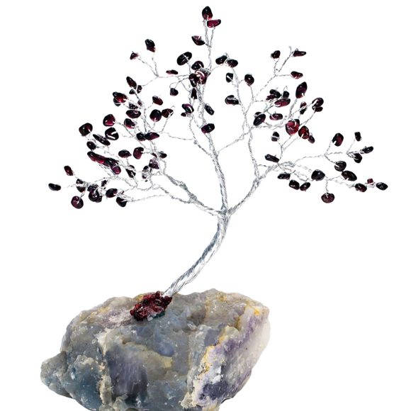 red garnet crystal tree