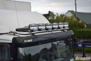 To Fit DAF XF 106 2013+ Space Cab Roof Light Bar + Jumbo Spots x6 + Flush LEDs x7
