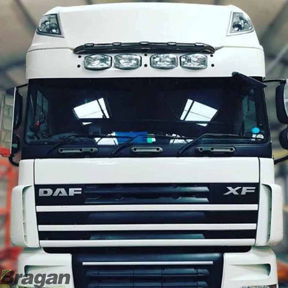 Sunvisor + Jumbo Spots For DAF XF 106 Super Space Cab 2013+ Smoked Acrylic Tinted
