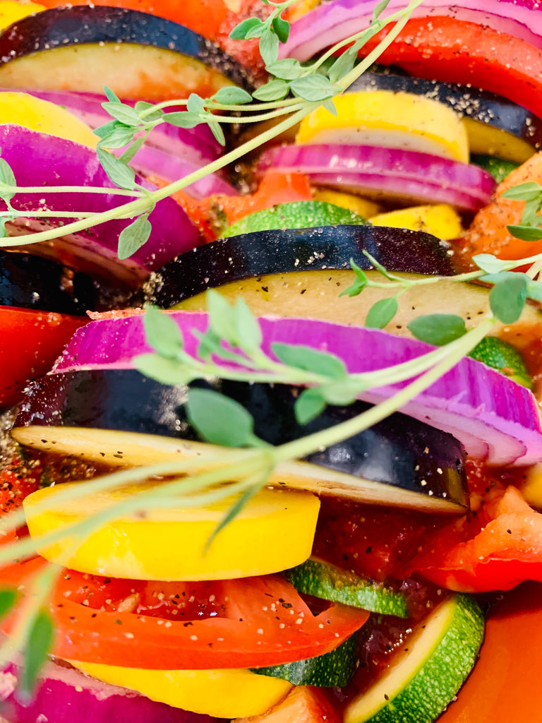 Colorful Ratatouille Slow cooker/Crock Pot Recipe, veggies, healthy, fit