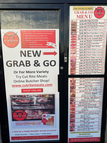 Cut Rite Meats Grab & Go Curbside Delivery.