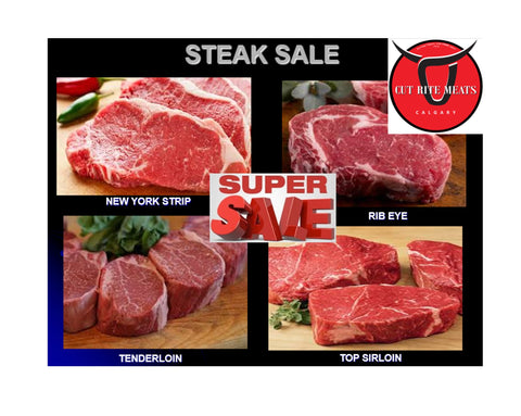 -Butchers Fave: Steak Super Sale (ranging from $5.95 to $59.95)