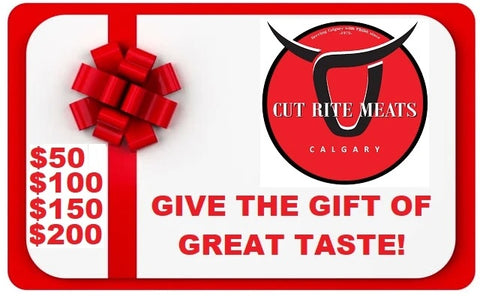 Cut Rite Meat Gift Cards